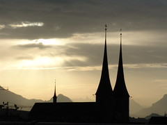 Some mornings ... (Comagogo Jed) Tags: cloud sunrise switzerland cathedral luzern comagogo comagogocom