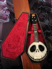Nightmare Before Christmas custom ukulele - by Nealy-J