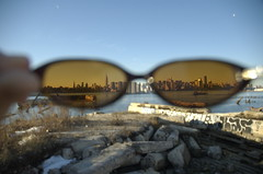Manhattan Through Katia's Glasses (garrettmurray) Tags: nyc favorite water sunglasses skyline day waterfront experiment eastriver williamsburg bklyn camera:model=nikond70