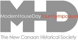 Logo for the Modern House Day Tour and Symposium in New Canaan, CT
