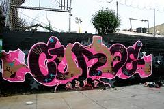 Curve (Claudine) Tags: sanfrancisco pink potrero potrerohill graffiti piece curve htk graffmural diet