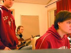 The red picture... (Jonas Sveningsson) Tags: red uffe me belleadair pererik music guitars