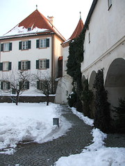 First Courtyard in Blutenburg Castle: inside the castle