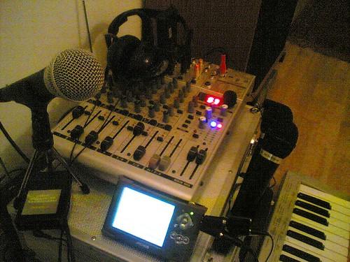 Podcasting setup
