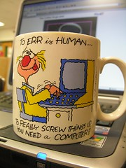 Coffee Mug and Computer