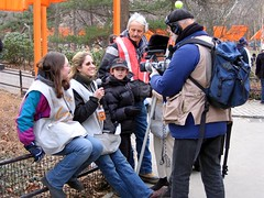 gates_interview3 (eatsdirt) Tags: thegates christo jeanneclaude centralpark nyc gates publicart art gatesmemory