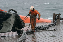 Offshore Job (Rune Johansen) Tags: 2005 blue sea sun man industry work ship offshore north pipe platform deck hydro northsea rig oil oilrig statoil wessel helikopter workingmen anchorhandling