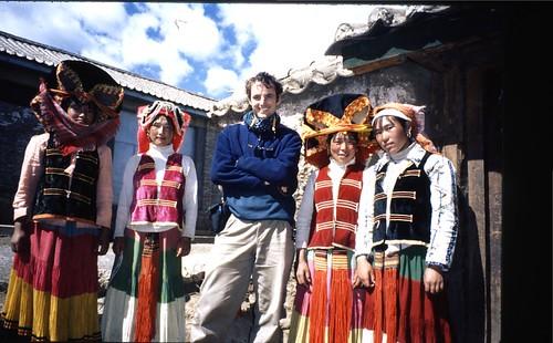 Me with Yi women in Yongning