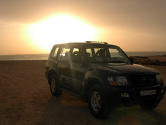 In it's element (Ionised) Tags: sunset car desert qatar arabia travel home gulf middleeast arabiangulf
