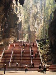 Batu Caves interior (Lil [Kristen Elsby]) Tags: light rock temple asia southeastasia interior steps malaysia mystical cave kualalumpur topv9999 hindu kl cavern topf100 batucaves