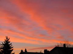 sunrise (Always_be_closing) Tags: 2005 morning blue red sky orange sun canada colour clouds sunrise dawn bc britishcolumbia burnaby heavens yvr v110