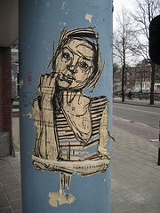 getthepicture (Keees) Tags: amsterdam praiseandcurseofthecity graffiti streetart chinese newspaper getthepicture keees zipcode 1072 swoon postcode nl1072