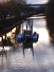 Dredger, floating harbour (knautia) Tags: 2005 uk england bike bicycle river bristol geotagged cycling boat bath february cyclepath daytrip railwaypath bristolbath dredger nationalcyclenetwork ncn4 bristolandbathrailwaypath geosun geo:lat=51452196 geo:lon=2554155