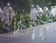 Reflections and Shadows (Whatknot) Tags: trip 2004 monument reflections dc washington memorial war shadows korea reflected ghosts whatknot