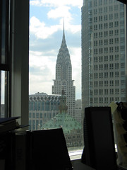 View at work (Chrysler Building)