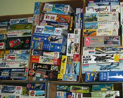 Kits (Elsie esq.) Tags: kits models boxes plastic glue hobby