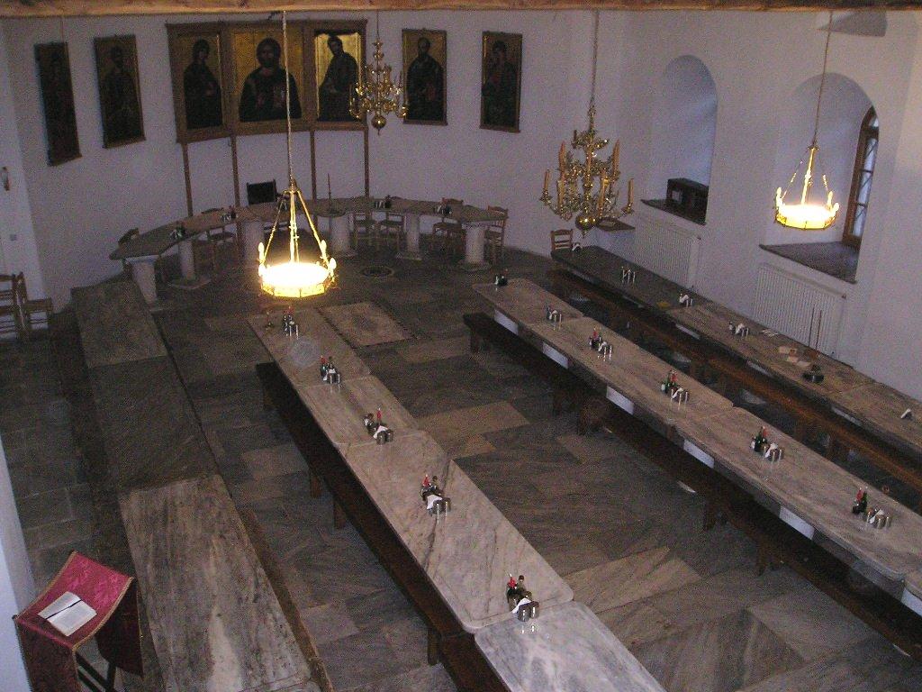 Trapeza, Iviron Monastery