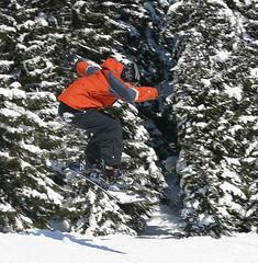 jumping (The-big-man) Tags: vacation orange snow ski snowboarding three jump jumping jacket snowboard flickrchallengegroup faceoffwinner interphotochallenge photofaceoffwinner pfogold