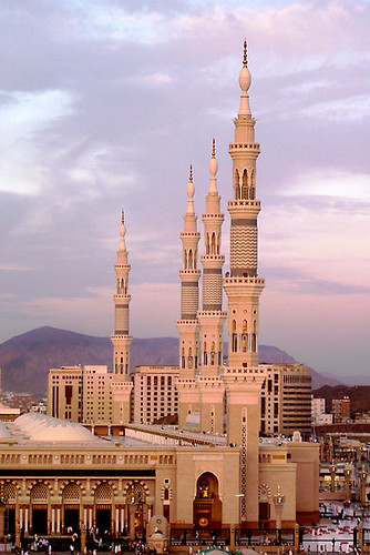 Minarets at Dawn - Medina, Saudi Arabia by Shabbir Siraj.