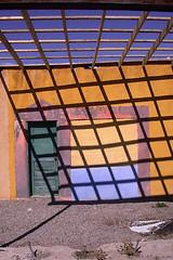 bob's studio (Mary Hockenbery (reddirtrose)) Tags: door blue shadow orange newmexico southwest color topf25 studio topv555 topv333 topv1111 topv999 utatahood 50100fav topv777 reddirtrose utatacountry photodomino63 verycool reddirtroseutatafeature abigfave