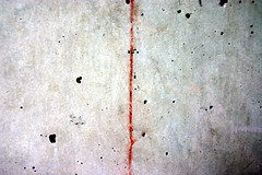 thin red line (dotpolka) Tags: berkeley campus ucberkeley abstract minimalism cytwombly concrete zip