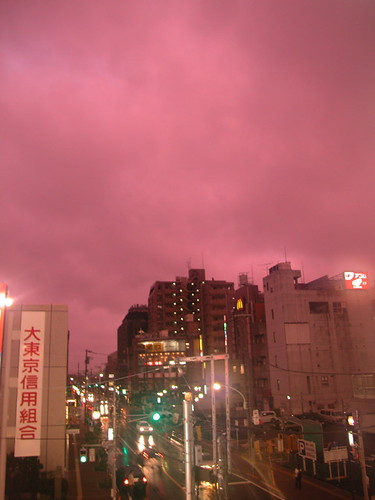 purple sky in fussa