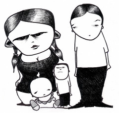 family (BIGAWK) Tags: urban streetart sharpie sketch sketchbook painting graff character characters create draw drawing book blackbook art charcoal family illustration