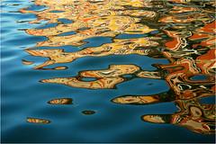 floating reflection #2 (BlueBreeze) Tags: blue abstract colour reflection castle water yellow germany wasser gelb blau schloss spiegelung bruchsal barockschloss thebiggestgroup