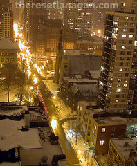 winter night in the city (therese flanagan) Tags: street city winter urban snow chicago topf25 topv111 night wow topv1111 100v10f explore chicagoatnight thereseflanagan chicagowinter thereseflanagancom lostchicago chicagonightshots chicagowinternight winternightinthecity citywinternight