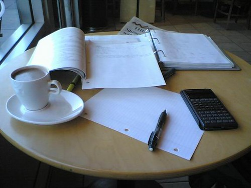 Work and a Chantico at Starbucks