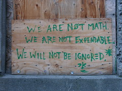 WE ARE NOT MATH (lexly87 aka Duc N. Ly) Tags: text signs construction signage math portland architecture