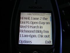 Uni Text Message