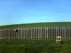 Chair. Backyard. Spring. (mathowie) Tags: s700i moblog green grass spring oregon