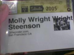 wright wright (maximolly) Tags: sxsw05 sxsw molly badge wrightwright