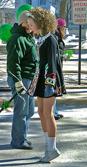 new appreciation for those who stay on their toes (McBeth) Tags: wisconsin parade stpatricksday dancer girl irishdancing toes irish mapprinclude memorymap spd2005madison
