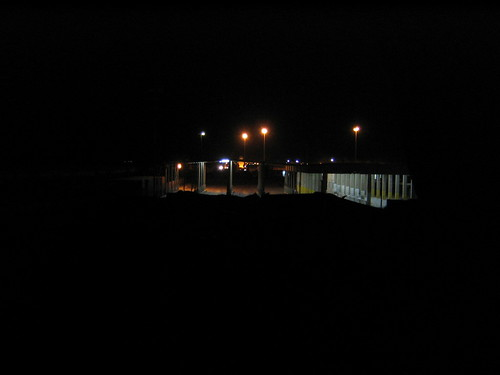 Jordanian border at night