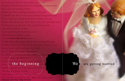 Wedding invitation, Unconventional wedding invitation, wedding cakes, flowers, invitation, photos, gowns, dresses