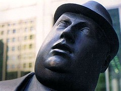 flickr.com: Encounter (statue of two businessmen in hats), McElcheran, Commerce Court, Toronto, by fortinbras