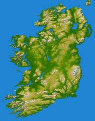 Ireland as seen by NASA Earth Observatory
