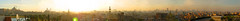 AzharPark Panorama - Click to Enlarge (mnadi) Tags: old sunset panorama sun gardens set skyline citadel egypt mosque ali cairo flare khan mohamed islamic azhar agha  aghakhan