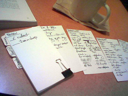 Getting Things Done with Index Cards
