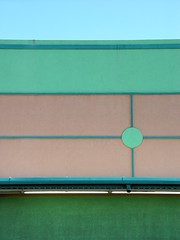 pastel building fourths (zen) Tags: sky building green circle beige walls 20030926 zensutherland