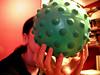 nipple ball (massdistraction) Tags: nippleball ball squishy odd silly gift green zophia girl nicehands hands saintpaul stpaul westsidepride nipple nippley weird bumpy wacky