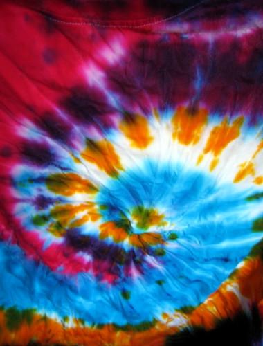 Tie Dye Swirl Background