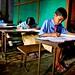 schoolchildren in sanorgaon