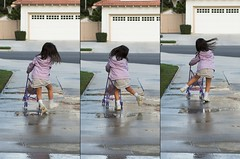 I'm dancing and I don't care who knows it (fd) Tags: family childhood happy topf50 shiny triptych dancing stroller joy daughter utatahood sidewalk 25 suburbs topv777 utataburbs lightproofboxcom