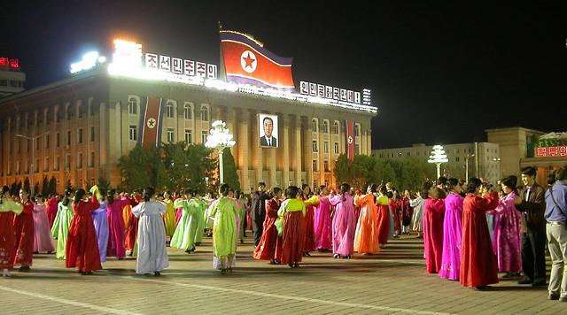 Birthday celebrations for Kim Il Song in Pyongyang (North Korea).