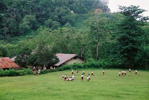 School children in Moni village