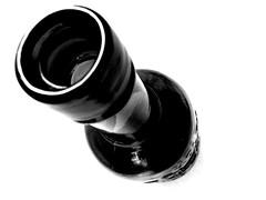 Bottle (Chris_J) Tags: bottle blackwite black white bw onwhite angle art kodak dx6340 kodakdx6340 pointshoot pointandshoot kodakpointandshoot kodakpointshoot amateur studio studioshot