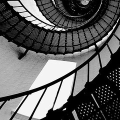 Lighthouse Stair (hodad66) Tags: bw lighthouse florida 1025fav